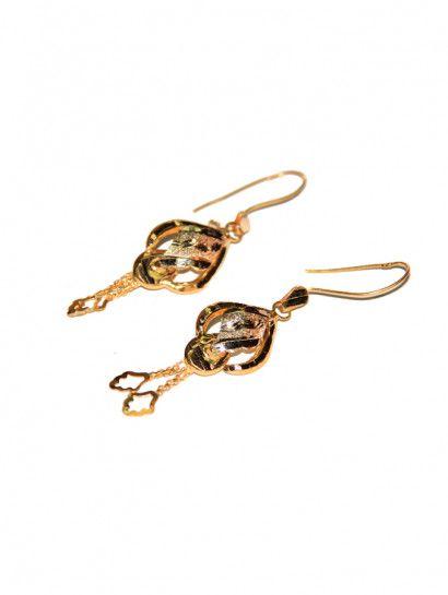 حلق ذهب عيار 21 حلق ذهب ليزر شكل وردة عيار 21 Enamel Pins Accessories Enamel