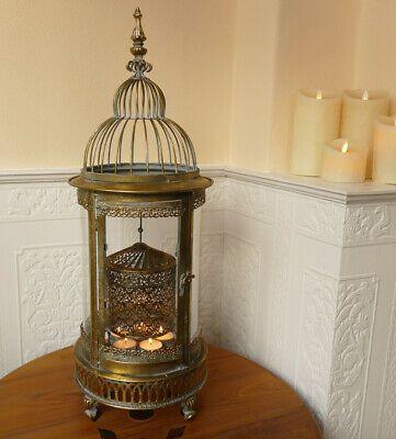Laterne Windlicht Kuppeldach Kupfer Shabby Landhaus Vintage Metall Gr.L 80,5 cm