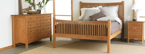 Handmade Natural Cherry Bedroom Furniture Sets | Real Solid Wood ...