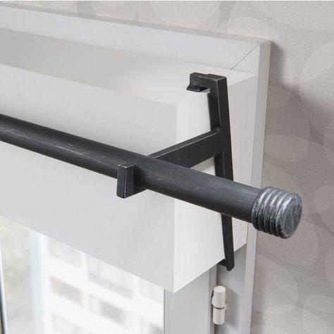 2 Supports Sans Percage Volet Roulant Colours Loik Noir Et Argent