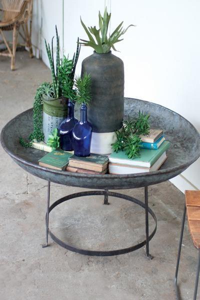 Sale Rustic Coffee Table Vintage Galvanized Metal Farmhouse