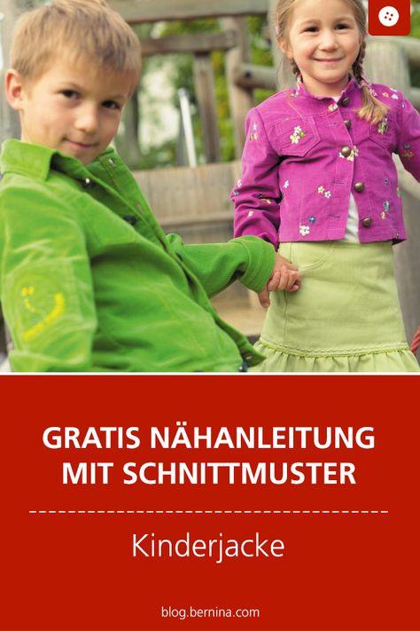 Kinderjacke gratis schnittmuster Kinderjacke Freebook