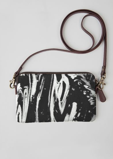 Leather Statement Clutch - red leaves by VIDA VIDA 3ZhDqo