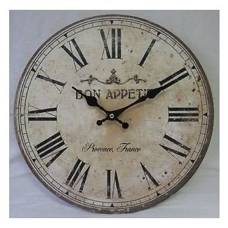 34cm Rustic French Provincial Country Wall Clock Bon Appetit Roman French Country Wall Decor Country Wall Clock French Country Clock
