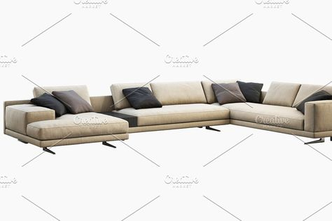 Mondrian chaise lounge sofa 3d model