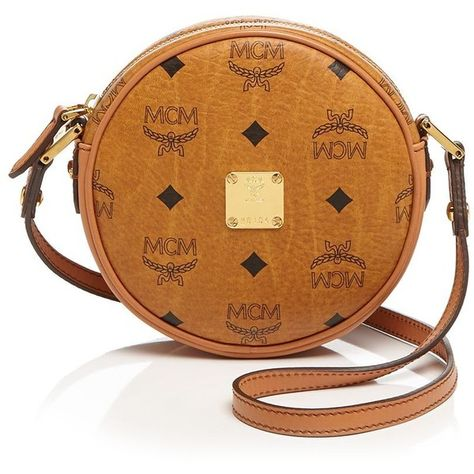 431285f12 Mcm Crossbody - Heritage Line Tambourine Small ($615) ❤ liked on Polyvore  featuring bags, handbags, shoulder bags, brown cross body purse, brown cross  body ...