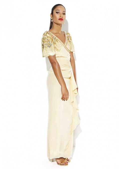 Pin for Later: The 50 Best Off-the-Rack Wedding Dresses to Fit All Bridal Budgets  Virgos Lounge Grace Beaded Dress (£95)