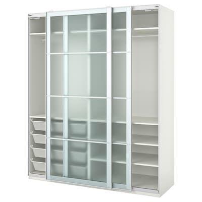 Pax Corner Wardrobe White Tyssedal Tyssedal Glass 82 3 4 73 7