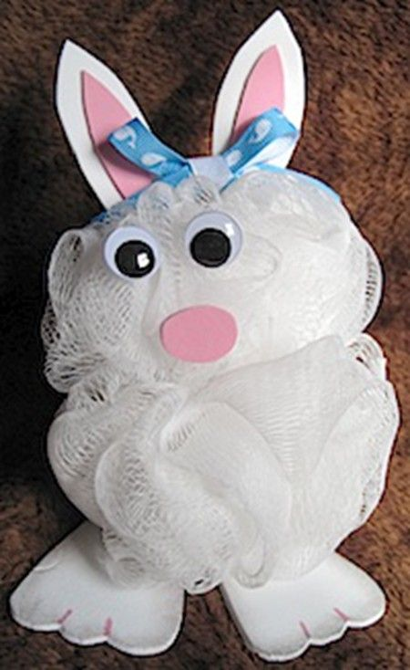 Creative Diy Easter Gift Ideas Diy Bath Pouf Bunny Handmade Easter