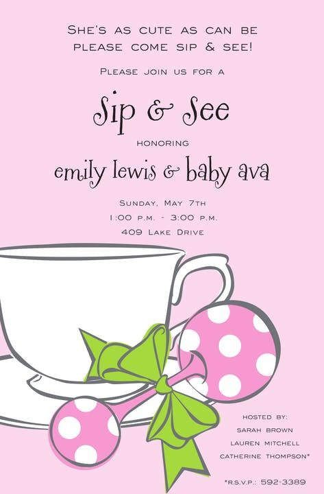 Girl Tea Invitation