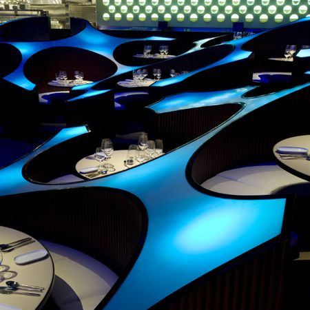 The Blue Frog Lounge (Mumbai) - Cool Restaurant Design in India by the Serie Architects