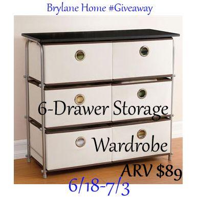 Thrifty Nifty Mommy: Brylane Home 6 Drawer Wardrobe | Giveaways | Pinterest  | Drawer Storage