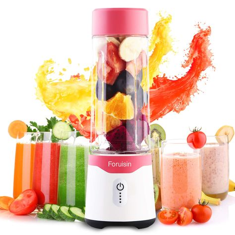 Foruisin Portable Personal Size Blender USB Rechargeable