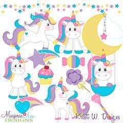 Magical Unicorns SVG Cutting Files + Clipart   Sticker fun