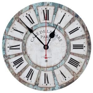 Ki Store Wall Clocks Decorative Silent Non Ticking Vintage Wall Clock Ocean Blue Rustic Style 12 Inch For Living Room Bedroom Kitchen Office Vintage Wall Clock Clock Wall Decor Wall Clock