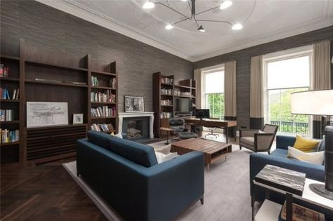 Contemporary Home Office in typical old Edinburgh Townhouse