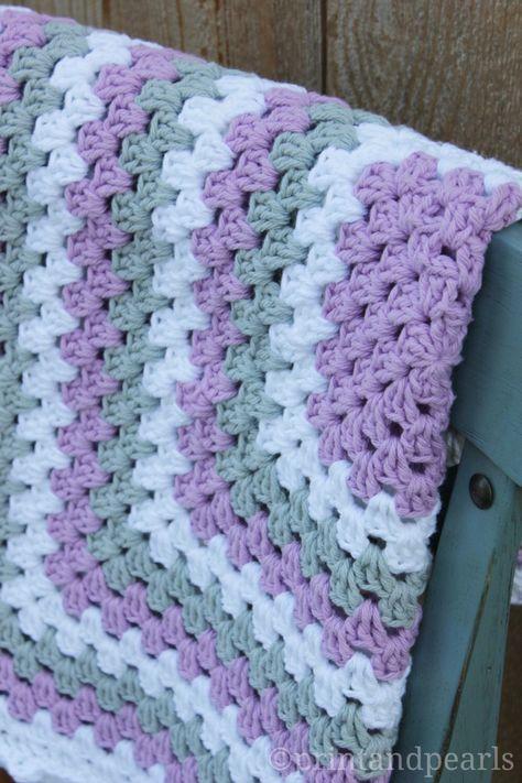 pram blanket Crochet small granny square blanket cot throw blanket gift for newborns