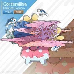Corsorallina Appears In Itanea Region Inspirated A Coral Reef Instagram Pokemon Fakemon Pokemongo Pokemonquest Pok Ghost Pokemon Pokemon Pokemon Moon