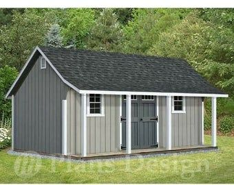 5 Mini Barn Plans Customizable Little Pole Barn Blueprints For Your Backyard Shed With Porch Building A Shed Diy Shed Plans