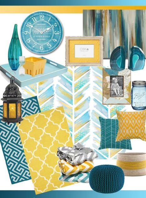 Mustard And Teal Colour Scheme Living Room Decor Gray Teal