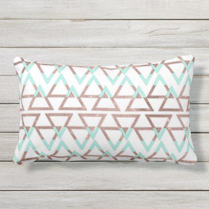 Pink, Mint and Gold floral Pillow