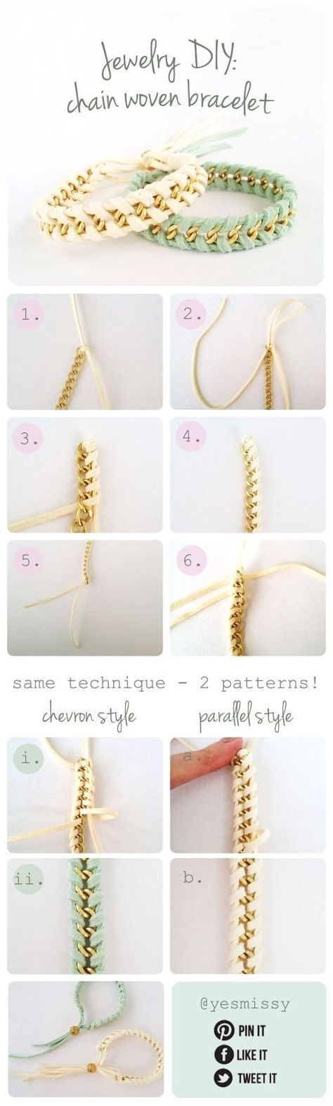 Jewelry DIY: Suede  Chain Woven Bracelet (Part 3)
