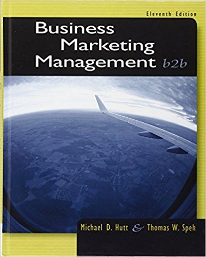 Pin On Business Marketing Management B2b 11th Edition Test Bank