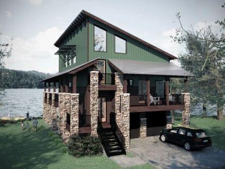 55 Ideas House Plans Lake Stones Modern Style House Plans Lake House Plans Small Lake Houses House plans for small lake houses