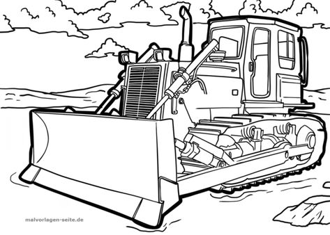 Malvorlage Planierraupe Fahrzeuge Malvorlagen Ausmalen Ausmalbilder