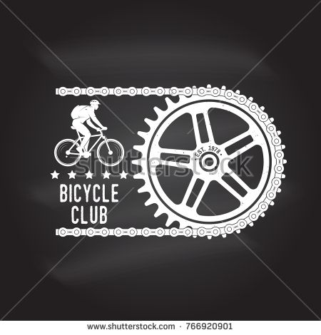 Bicycle Club Vector Illustration Concept For Shirt Or Logo Print Stamp Or Tee Vintage Typography Desi Vintage Typography Design Vector Illustration Vector