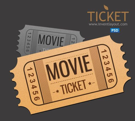 Movie Ticket Psd Inventlayout Com Download Free Psd With