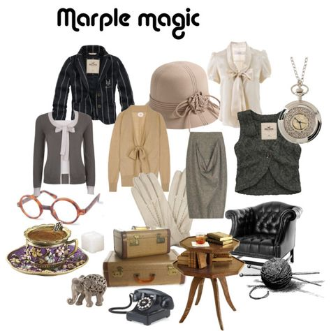 """Okay, maybe not all of this is style for moi, but Miss Marple has some pretty nice items here! """"miss marple magic"""" by boothstreet on Polyvore"""