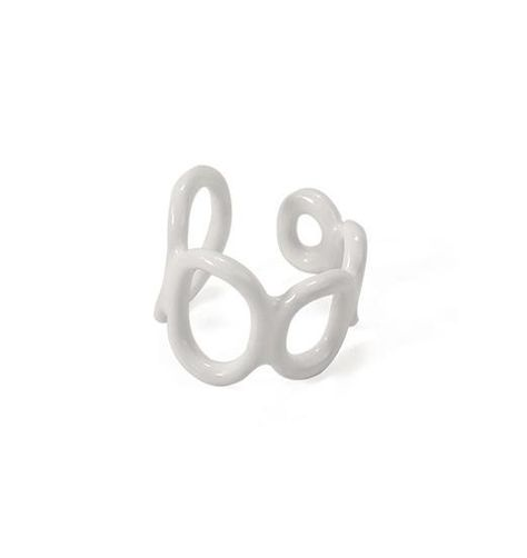 Hand glazed adjustable rings inspired by daily life.