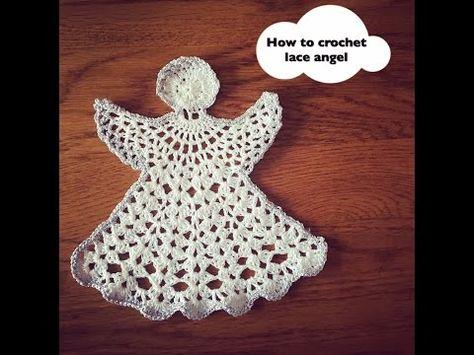 Crochet Angel Ornament Tutorial Youtube Kerst Pinterest
