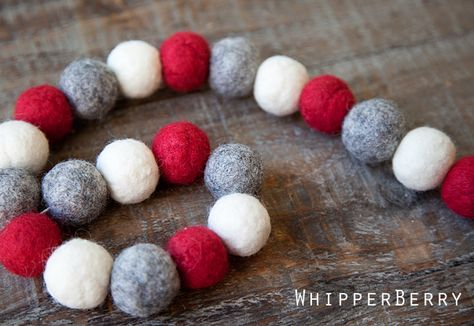 holiday garland tutorial for felted balls