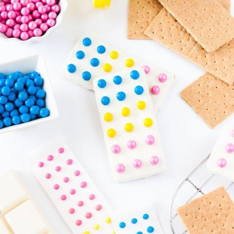 Candy Button Graham Cracker Bars