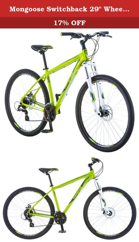 Mongoose Switchback 29 Wheel Mountain Bicycle Green Small Frame