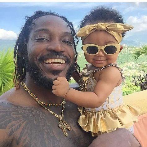 "J A M A I C A    V Y B Z 🇯🇲 on Instagram: ""Sweetness! Chris and his daughter 😊 #UniverseBoss #UniversePrincess #SLEEKfamily #certifiedSLEEK  Source: @chrisgayle333 via @sleekjamaica"""