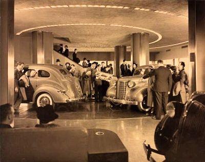 1934 Chrysler Building, Chrysler Models LineUp Showroom, NY, New York
