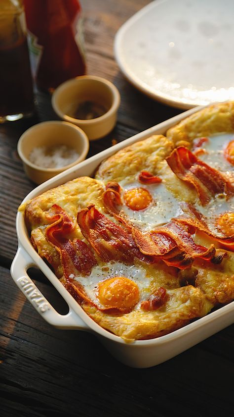 Breakfast lasagne is for all our breakfast lovers out there. Bacon, eggs and all the things you love in one dish!