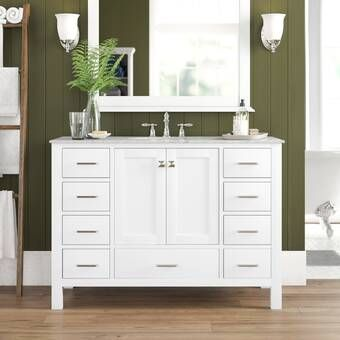 Luz 60 Double Sink Bathroom Vanity Set Reviews Birch Lane Single Bathroom Vanity Bathroom Vanity Double Vanity Bathroom