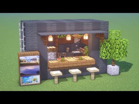 マインクラフト コンテナキッチンの作り方 建築講座 マイクラ店作り方 Deerbuild Youtube 2020 マインクラフト クラフト コンテナ
