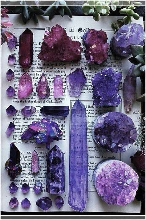 Amethyst is known as a stone of transcendence because of its powers to unplug from unhealthy attachments, cleansing the mind, body and aura from negative or addictive patterns. Wear this crystal for protection and to connect to mystical, magical energy. Crystal Aesthetic, Purple Aesthetic, Minerals And Gemstones, Rocks And Minerals, Image Deco, Yennefer Of Vengerberg, Baby Witch, Crystal Magic, Amethyst Crystal