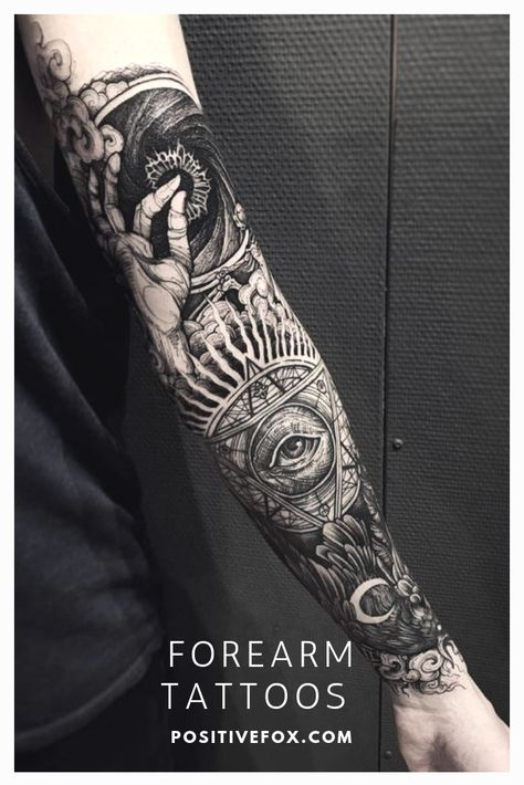 Forearm Men Tattoos Source by positivefoxInks