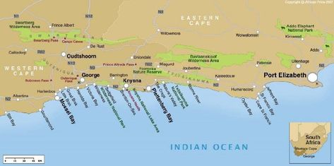 Tuinroute Kaart Zuid Afrika Afrika Reizen