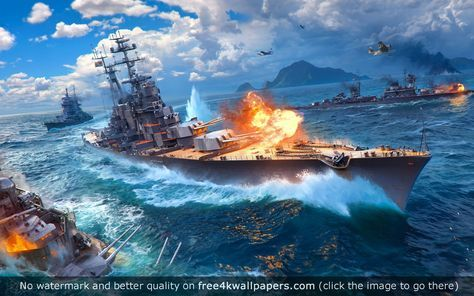 World Of Warships Game 4k Hd Wallpaper Wallpaper Hd Wallpaper Usa Wallpaper World of warships wallpaper 4k