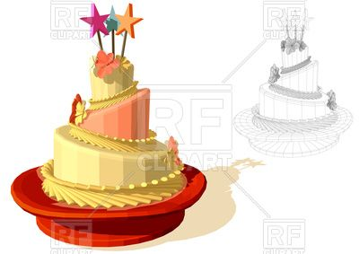 Birthday Cake Images Vektor ~ Birthday cake download royalty free vector clipart eps