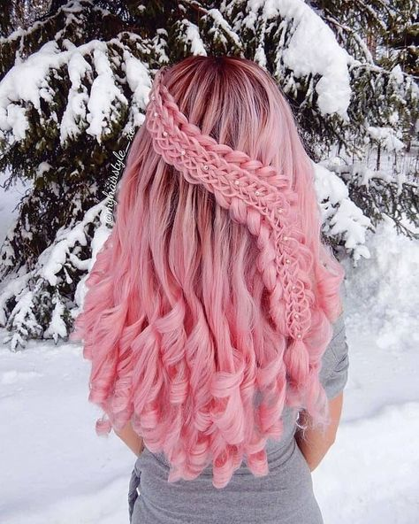 17 Best interesting braided rose hair designs – 2 Do you want to break down taboos and have very striking … Cute Hair Colors, Pretty Hair Color, Beautiful Hair Color, Hair Dye Colors, Beautiful Dream, Hair Colour, Pretty Hairstyles, Braided Hairstyles, Fantasy Hairstyles