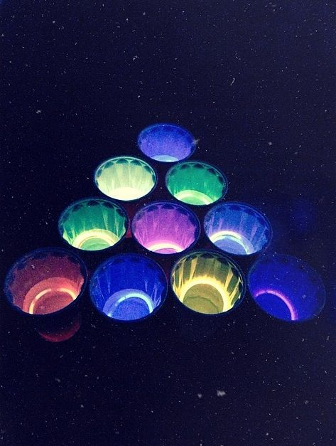 Use Glow Bracelets for Easy DIY Glow Beer Pong! https://glowproducts.com/us/standard-glow-bracelets-assorted-colors #BeerPong #Parties                                                                                                                                                      More