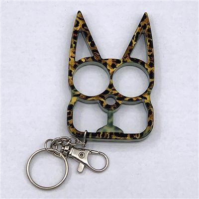 Kitty Cat Self Defense Keychains Leopard Print Self Defense